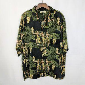 Tommy Bahama Hawaiian Silk Button Down Shirt